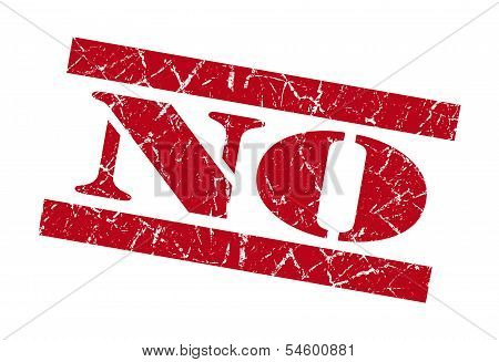 No Red Grunge Stamp