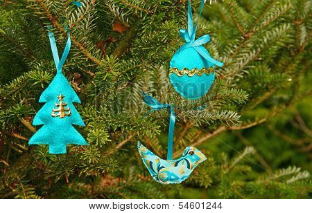 Blue Hand Made Christmas Decoration