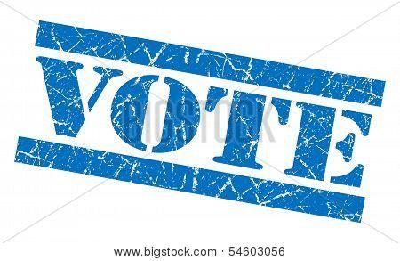 Vote Blue Grunge Stamp