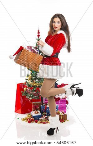 Sensual Santa Girl With Presents