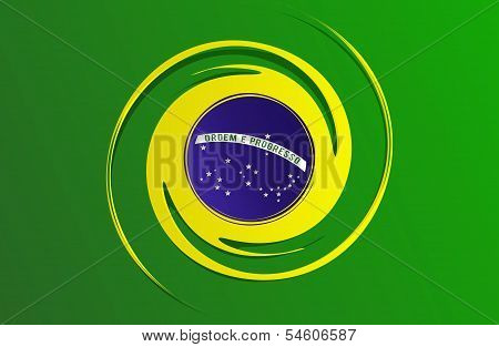 Abstract Flag of Brazil