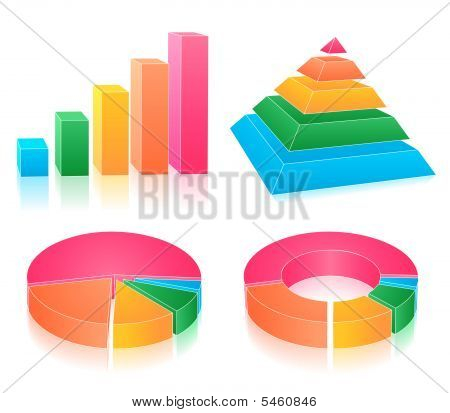 Set Of Rainbow Charts