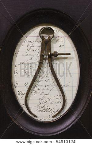 Antique Caliper Diameter Tool