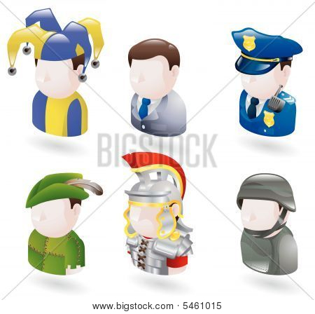 web de pessoas de avatar