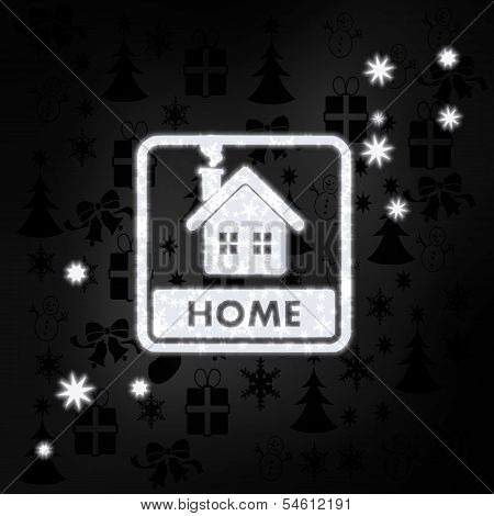 Noble Home Label With Stars