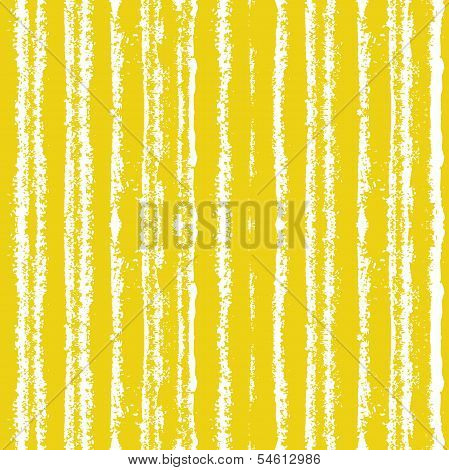 Striped pattern with brushed lines in yellow.