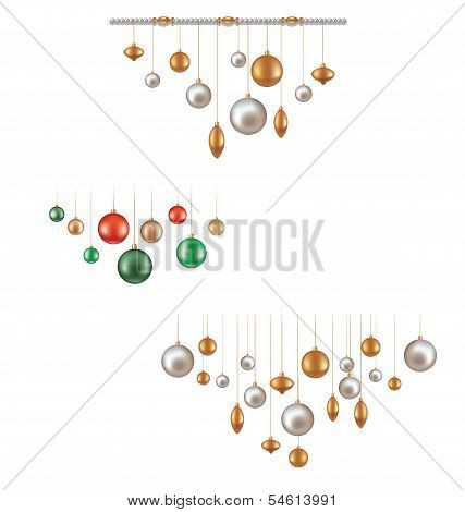 set of hunging ball decoration