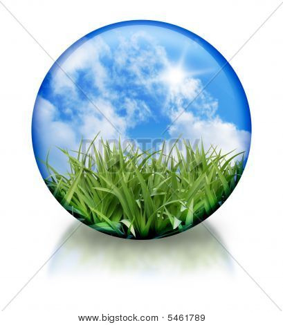Organic, Nature Circle Orb Icon
