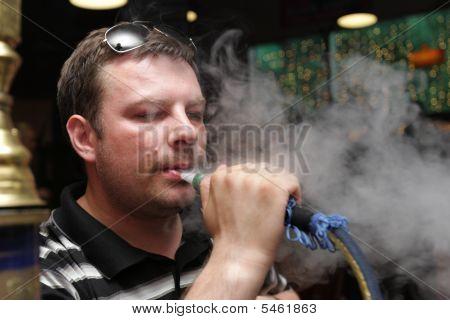 Smoking Shisha Man