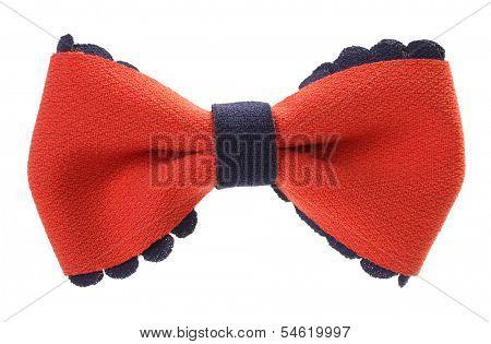 Decorative orange navy blue ribbon bow