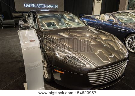 Aston Martin Rapide S Car On Display At The La Auto Show.
