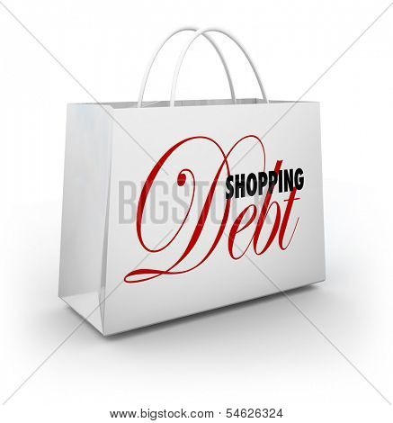 Shopping Debt Bag Credit Card Spending Money