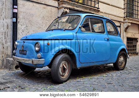 A Fiat 500 In Rome