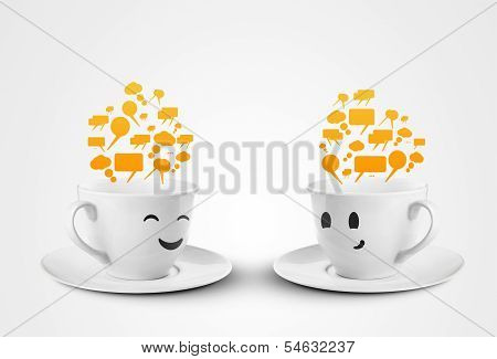 Two Cups Communicate