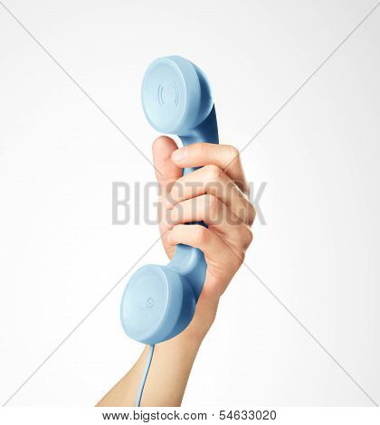 Blue Handset
