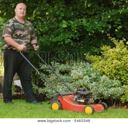 Male Grass Cutting