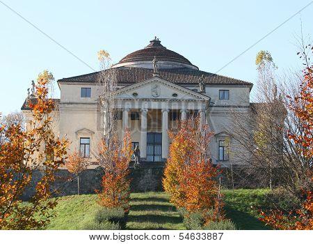 Palladian Villa Called La Rotonda In Vicenza   In Autumn 2