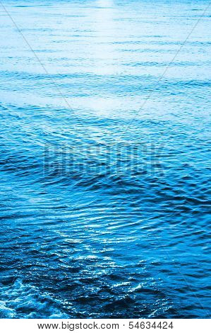 Blue Sea Ocean Waves  Background