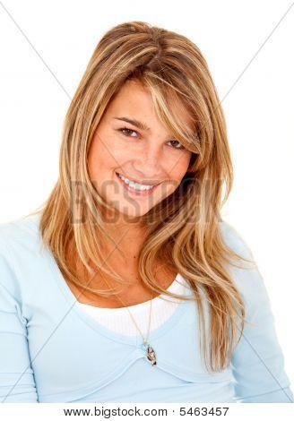 Blonde Female Isolated