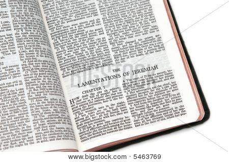 Bible Open To The Lamentations Of Jeremiah