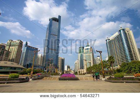 Jinhu square in Nanning, Guangxi, China.