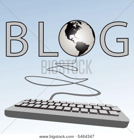 Blogging Keyboard Blogs To Earth American Western Blogosphere