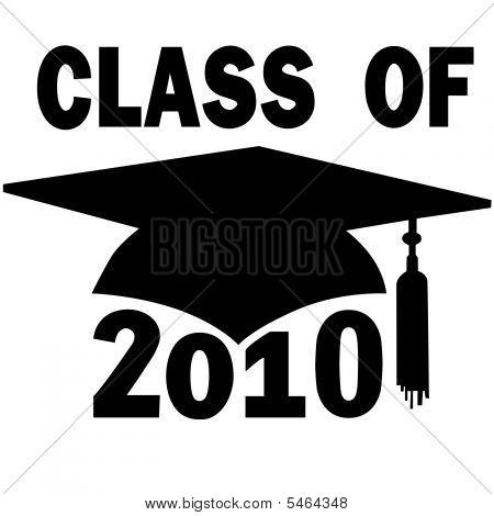 Class Of 2010 School Mortar Board Graduation Cap