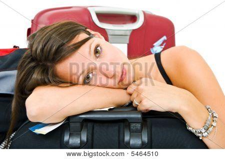 Müde Reisende