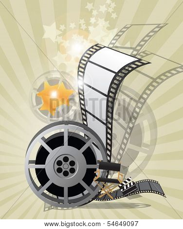 Movie poster, vector