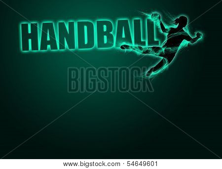 Woman Handball Background
