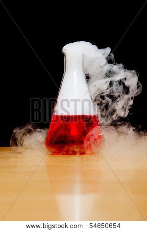 An image of a nice laboratory dry ice smoke