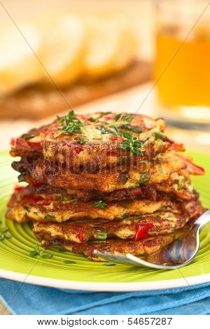 Zucchini and Bell Pepper Fritter