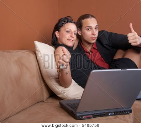 Couple With Notebook