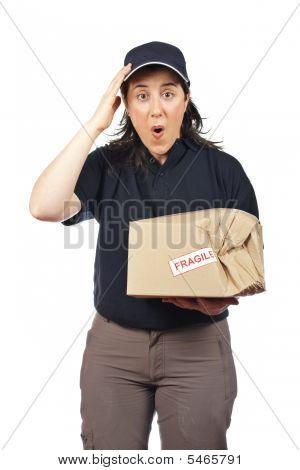 Entrega A dañado el paquete