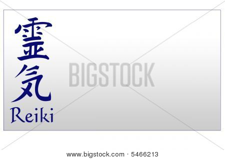 Businesscard Reiki Blank