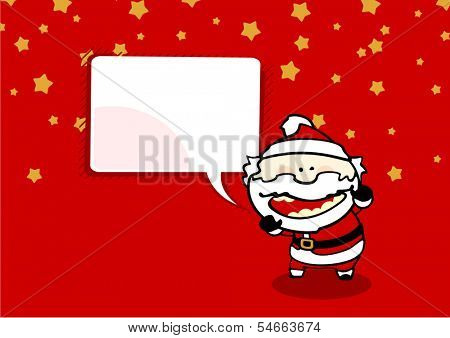 Christmas card with bad Santa