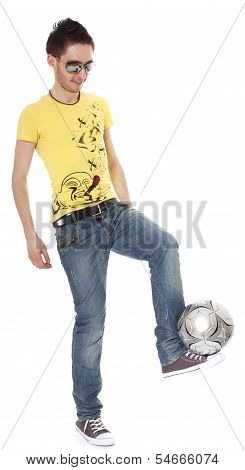Sportsman With Ball.