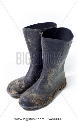 dirty Wellington Boots
