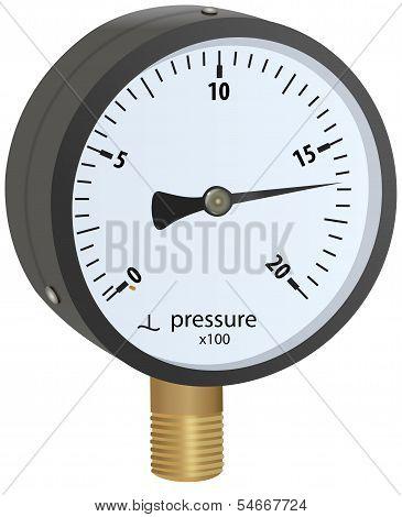 Analogue metal manometer