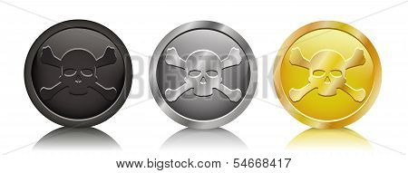 Pirate Coins Jolly Roger