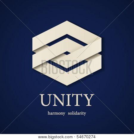 vector unity paper icon design template