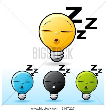 Light Bulb Character: Sleeping