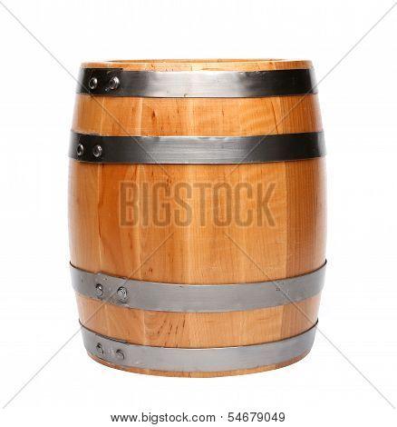 Wood barrel isolated
