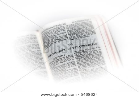 Bible Open To Chronicles Ii Vignette
