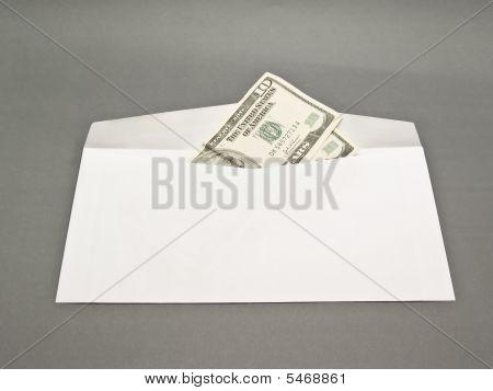 Envelope And Dollars