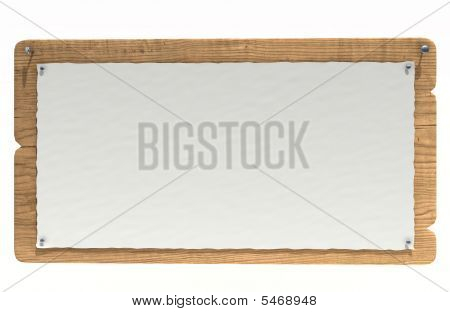 Wooden Notice Board