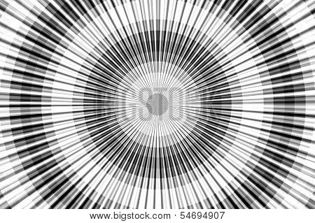 Grayscale grace. Radial pattern
