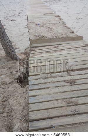 Damaged Boardwalk After Storm.
