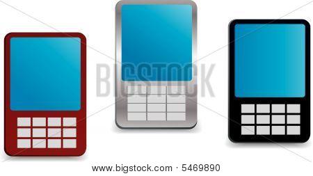 Generic Looking Vector Mobile Phones