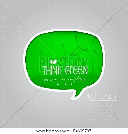 Think green banner.